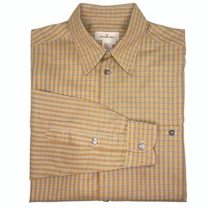Ermenegildo Zegna Rust/Brown Plaid Button Down.